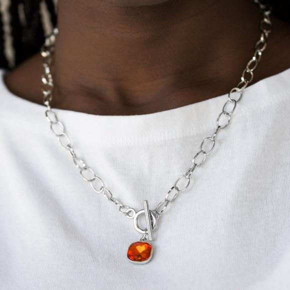 paparazzi Jewelry - Dynamite Dazzle - Orange Necklace Set
